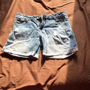 Mid thigh jean shorts